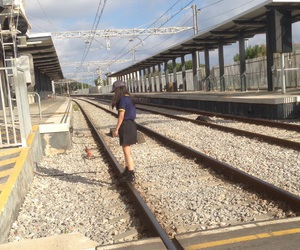 aesthetic, tumblr, and traintrack image
