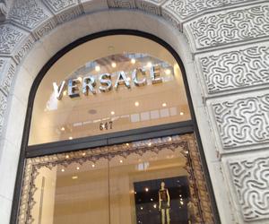 Versace, luxury, and beige image