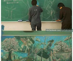 chalkboard, funny, and students image
