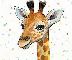 baby animal, baby giraffe, and etsy image
