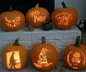 harry potter, Halloween, and pumpkin image