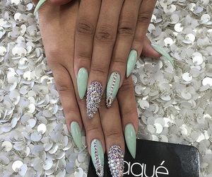 almond, diamond, and green image