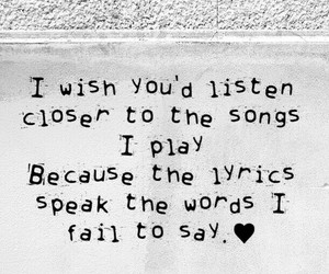 feelings, music, and words image