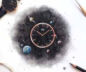 art, time, and watch image