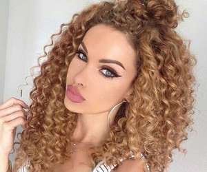 fashion, girl, and curls image
