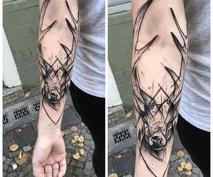 amazing, deer, and ink image