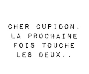 cupidon, french, and citation image