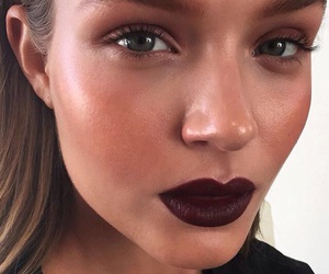 josephine skriver, model, and makeup image