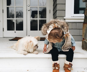 cute, baby, and dog image