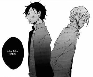 Boys Love, manga, and monochrome image