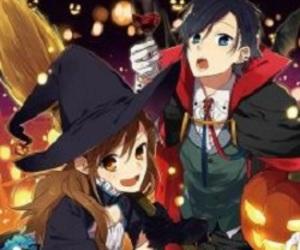 anime, couples, and Halloween image