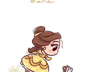 beauty and the beast, happy, and ديزني image