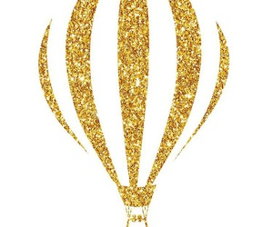 air, balloon, and gold image