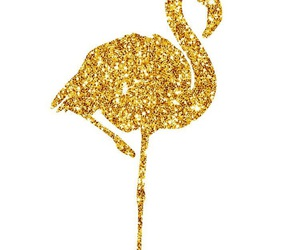 glitter, flamingo, and gold image
