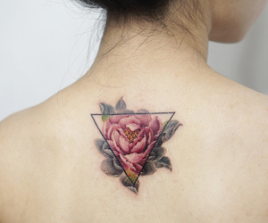 back, rose, and triangle image