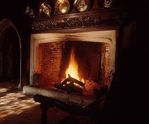 fireplace, fire, and gryffindor image