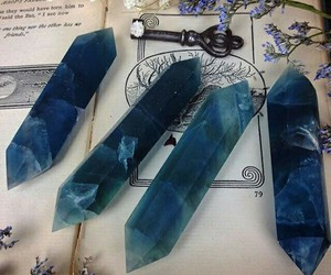 blue, crystal, and ravenclaw image