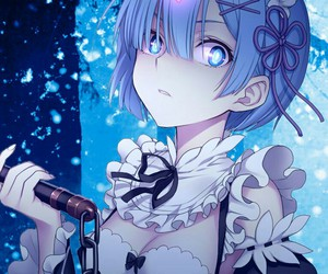 anime, rem, and re:zero image