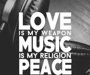 music, peace, and black image