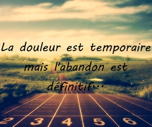 never give up and athletisme image