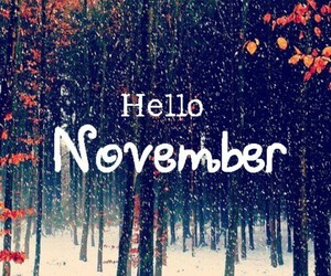 november, hello, and winter image