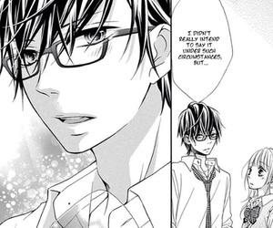 monochrome, shoujo, and manga boy image
