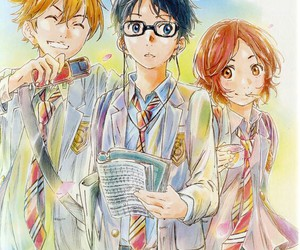 shigatsu wa kimi no uso, anime, and your lie in april image
