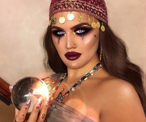 crystal ball, fortune teller, and Halloween image