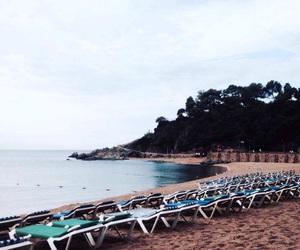 beach, lloret de mar, and enjoy image
