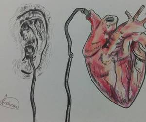 heart, music, and sound image