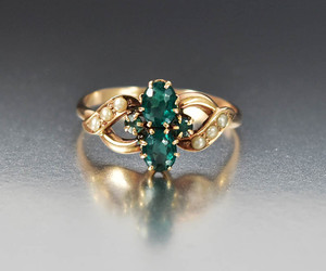 antique, emerald, and engagement image