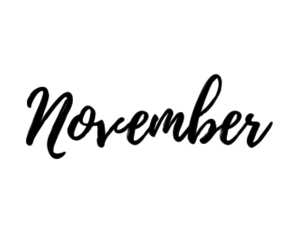 november, autumn, and month image