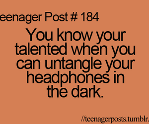 teenager post, headphones, and post image