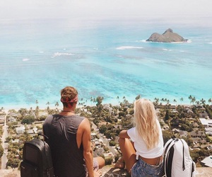 couple, girl, and beach image