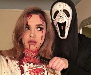 luke hemmings, arzaylea, and Halloween image