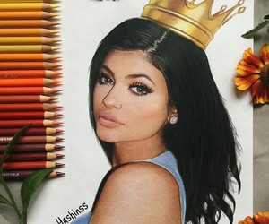 art, kyliejenner, and kingkylie image