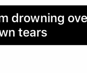 drowning, lonely, and tears image
