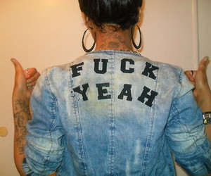 fuck, fuck yeah, and jeans image