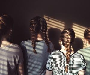 braids, girls, and hair image