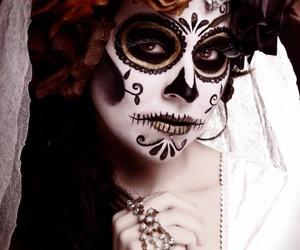 skull, Halloween, and halloween costume image
