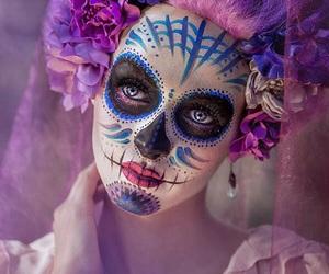 makeup, Halloween, and photography image