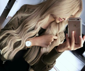 beauty, blonde, and long hair image