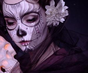 dia de muertos, halloween costume, and makeup image