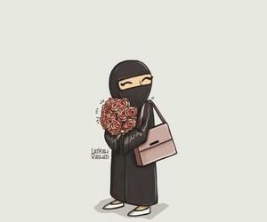 arab, abaya, and girl image