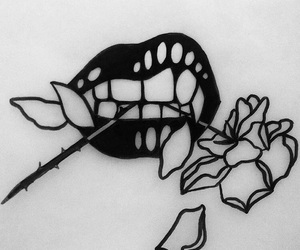 rose, black, and black and white image