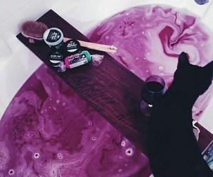 cat, lush, and purple image