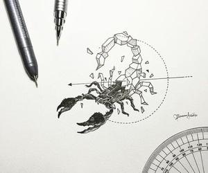 scorpion, tattoo, and art image