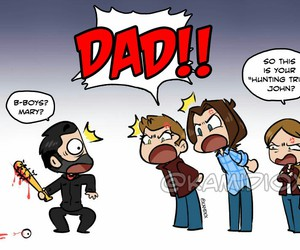 supernatural, winchester, and john winchester image