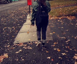 fall, outfit, and rain image