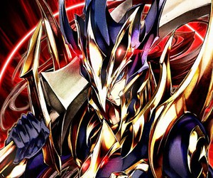 yugioh, duel card, and black luster solider image